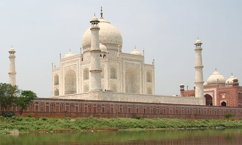 Taj Mahal view from river